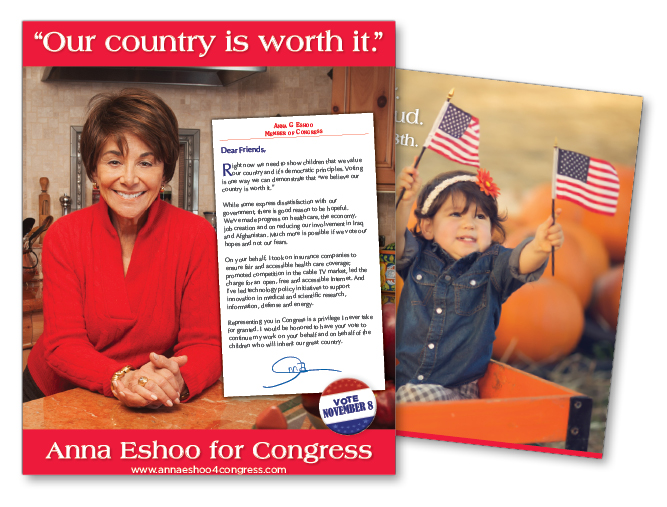 Anna Eshoo for Congress campaign mailer