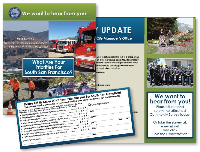 South San Francisco feedback brochure mailer