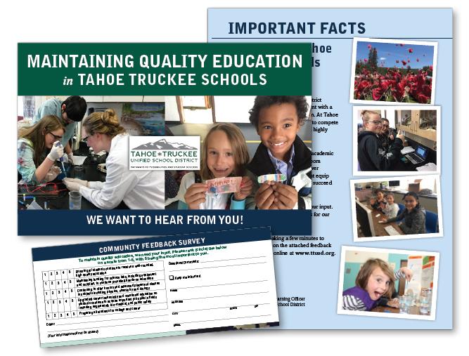 Tahoe Truckee Schools feedback brochure mailer