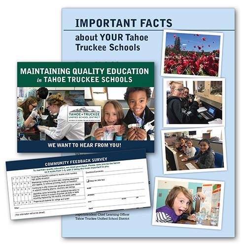 Tahoe Truckee Schools feedback brochure