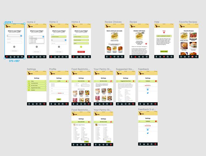 fridge raider design flow