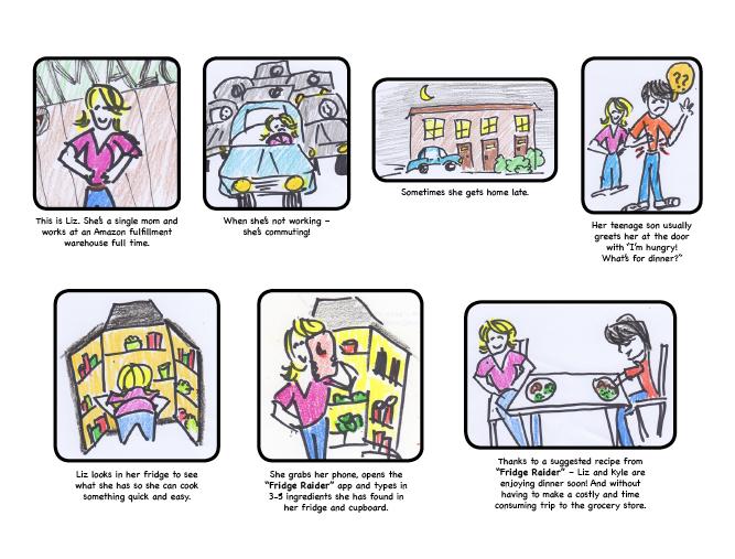 fridge raider storyboard