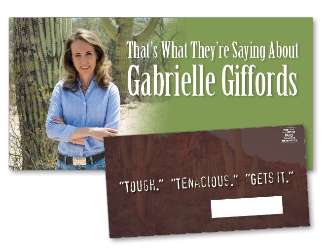Gabrielle Giffords for Congress campaign mailer, 2008