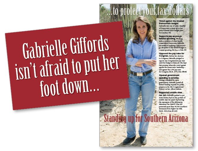 Gabrielle Giffords for Congress campaign mailer