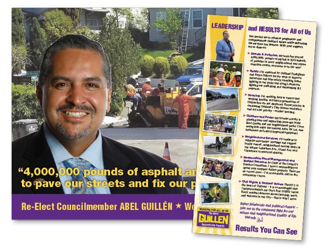 Re-Elect Abel Guillen campaign brochure