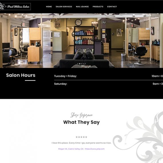 Paul Milina Salon website