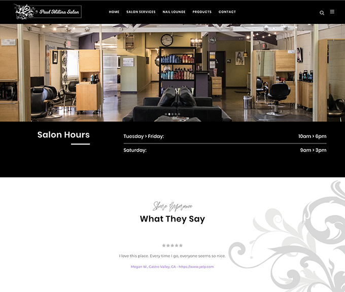Paul Milina Salon website