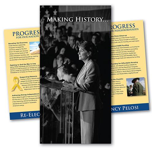 Nancy Pelosi campaign brochure
