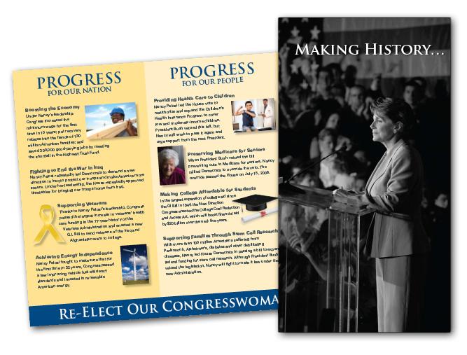 """Making History"" Nancy Pelosi campaign brochure"