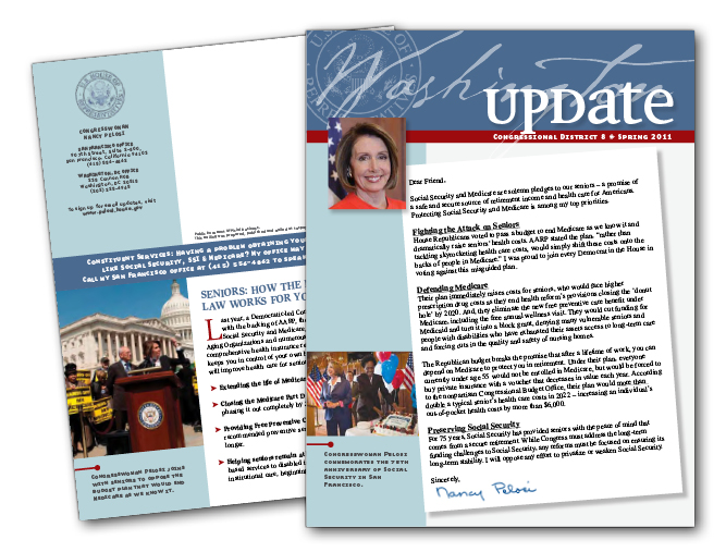 """Washington Update"" Nancy Pelosi constituent newsletter"
