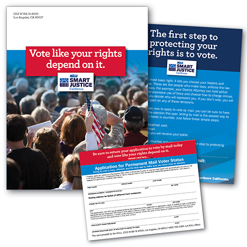 Smart Justice vote-by-mail application